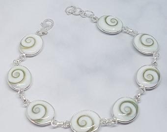 Shiva Eye & Sterling Silver Adjustable Bracelet