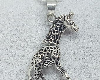 Sterling Silver Articulated Giraffe Necklace