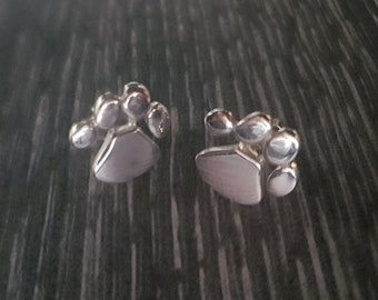 Sterling Silver Paw Studs