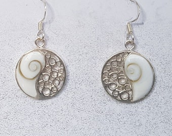 Shiva Eye & Sterling Silver Ying Yang Earrings