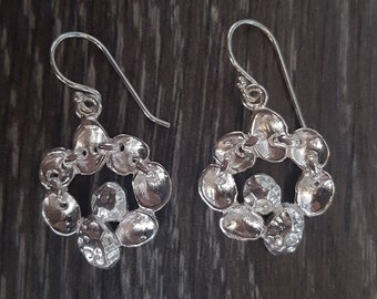 Sterling Silver Nugget Earring