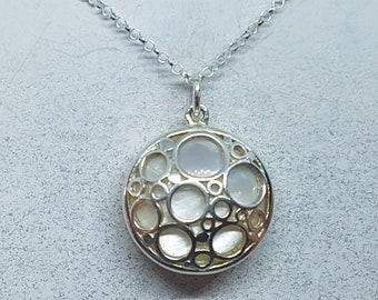 Mother of Pearl & Sterling Silver Bubble Necklace