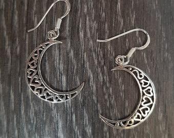 Sterling Silver Moon Earrings