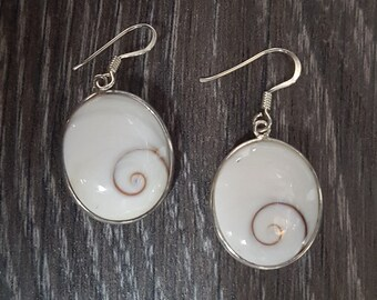 Shiva Eye & Sterling Silver Earrings
