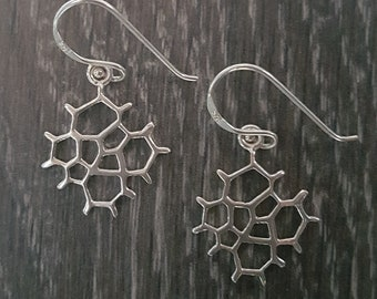 Sterling Silver Honeycomb Earrings