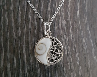 Shiva Eye & Sterling Silver Ying Yang Necklace