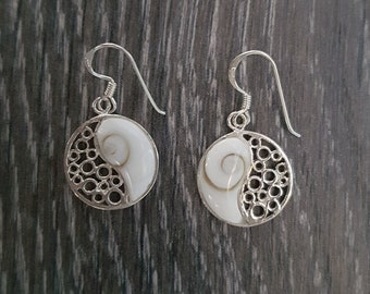 Shiva Eye & Sterling Silver Ying Yang Earrings