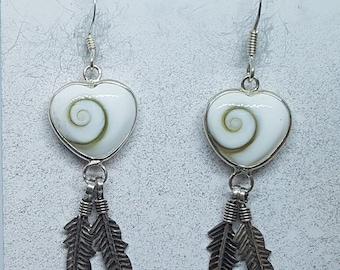 Shiva Eye & Sterling Silver Heart Dreamcatcher Earrings