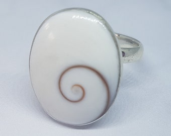 Shiva Eye & Sterling Silver Adjustable Ring