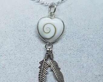 Shiva Eye & Sterling Silver Heart Dreamcatcher Necklace