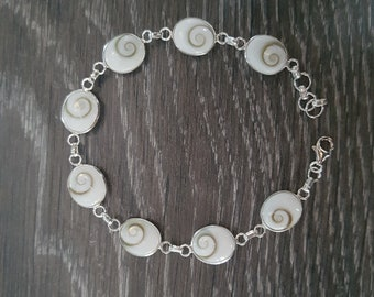 Shiva Eye & Sterling Silver Adjustable Bracelet
