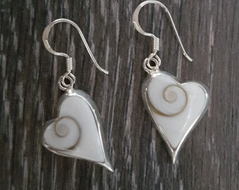 Shiva Eye & Sterling Silver Long Heart Earrings