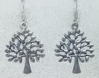 Sterling Silver Mulberry Tree Earrings