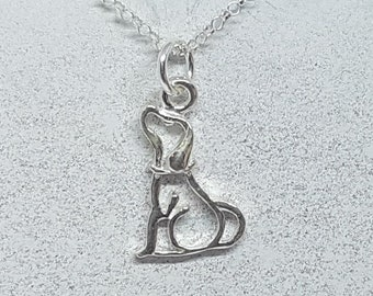 Sterling Silver Cute Dog Necklace
