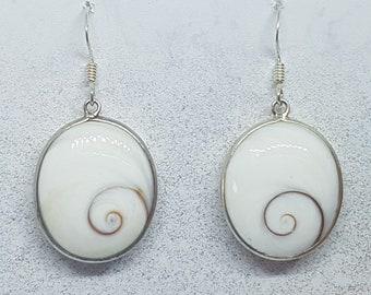 Shiva Eye & Sterling Silver Earrings