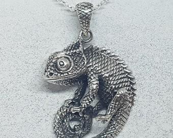 Sterling Silver Chameleon Necklace
