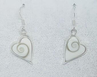Shiva Eye & Sterling Silver Long Heart Earrings