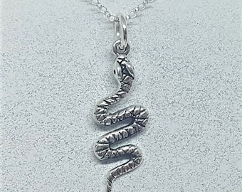 Sterling Silver Coiled Snake Necklace