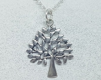 Sterling Silver Mulberry Tree Necklace