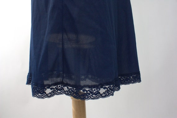 Vintage 1970s Slip Dress | Navy Blue Slip Dress |… - image 9