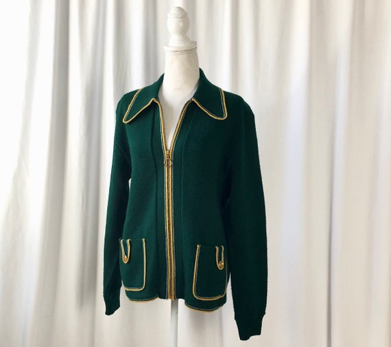 Vintage Sweater Jacket | 1950s Cardigan Sweater |