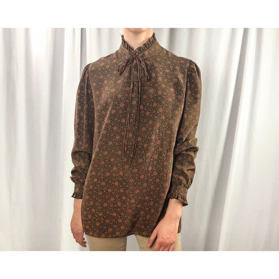 Gloria Sachs High Neck Blouse | Vintage Paisley Bl