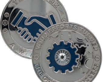 Teamwork Challenge Coin for Employees   Coaches   MVP Players