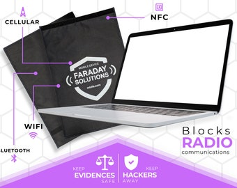 Laptop Faraday Case 22'' x 15'' (Become Invisible to 3rd Parties and Hackers)