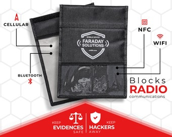 Faraday Tablet Case with Document Pocket   X2 Shielding Anti-hacking   Anti-Spying