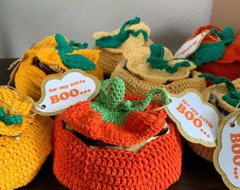 Crochet Pumpkin Gift Box   Pumpkin candy bag   Halloween or Thanksgiving Gift ideas   Toddler gift   pumpkin decoration with surprise