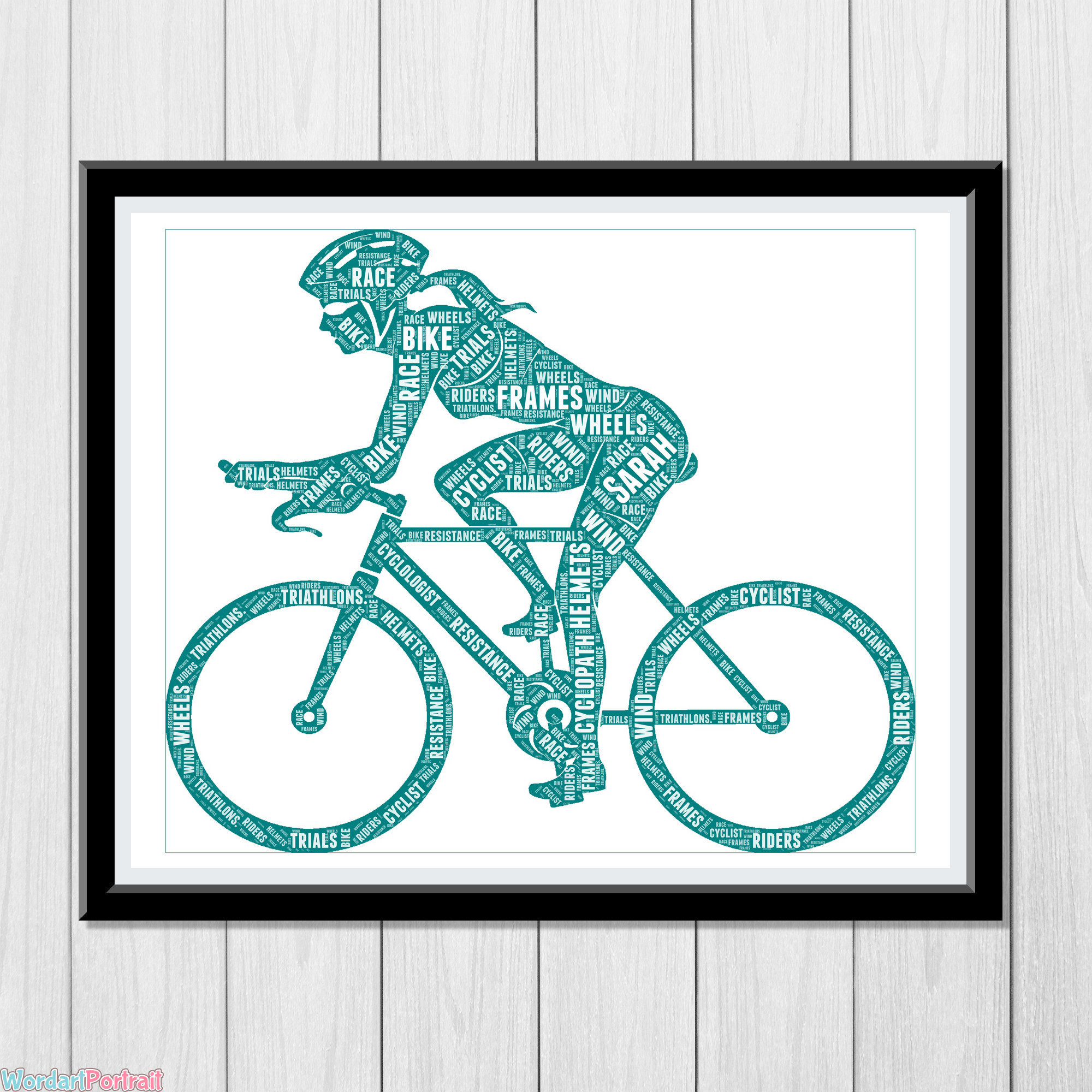 Bike Rider Female Cyclist Personalized Gift for Her Girl Cycle Racing Bicycle Gifts Daughter Sister Girlfriend For Her Gifts Word Art Cloud