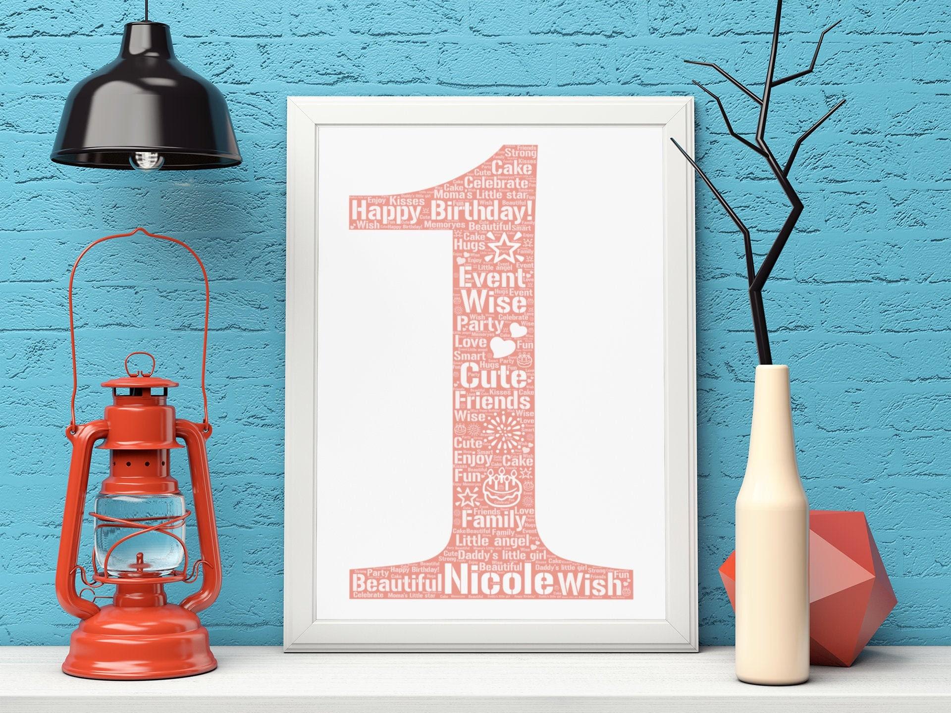 Personalized 1st Birthday- 5th Birthday Gift- 10th Birthday Poster- 15th Birthday Word Art- 18th Birthday Custom Print- 20th Birthday-