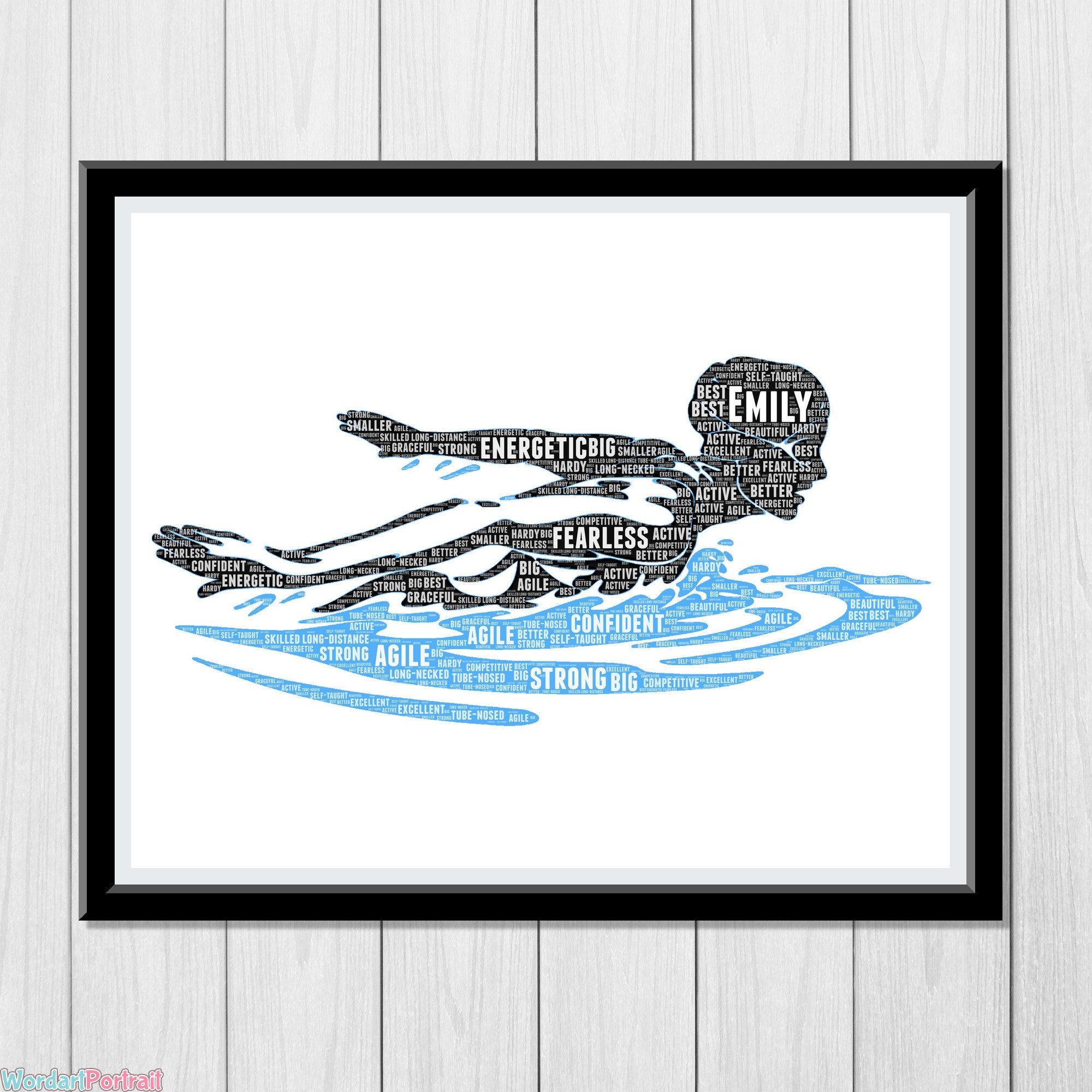 Personalized Swimmer Gift -Swimming Word Art Room Decor- Print for Swimming -Gifts For Coach Daughter Mom Sister Wife Wordle Word Cloud