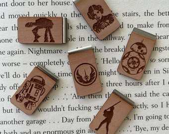 Star Wars Bookmark - Star Wars - Darth Vader - Luke Skywalker - Princess Leia - R2D2 - Jedi Order - ATAT - BB8 - May the Force Be With You