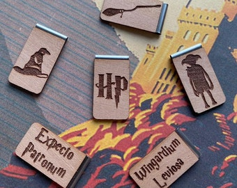 Harry Potter Bookmark - Harry Potter - Hermoine - Ron Weasley - Dumbledor - Slytherin - Ravenclaw - Gryffindor - Hagrid - Hedwig - Hogwarts