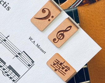 Musical Bookmarks - Music Note Bookmarks - Great Gift - Treble Clef - Bass Clef - Guitar - Music - Music is Life - Music Fan - Bookmarks