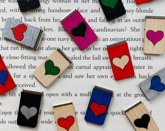 Love Heart - Valentines - Personalised Bookmark - Gift for Her - Gift for Him - Gift of Love - Christmas Gift - Bookmark - Slide on Bookmark
