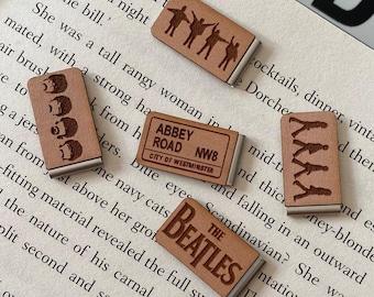 Beatles Bookmark - Abbey Road - Zebra Crossing - Liverpool - John Lennon - Paul McCartney - Ringo Starr - Bookmark - Slide on Bookmarks