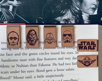 Star Wars Bookmark - Star Wars - Storm Trooper - Darth Vader - Yoda - Chewbacca - C3PO - Jabba the Hutt - May the Force Be With You - Jedi