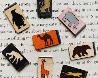 Zoo Animal Bookmark - Zoo Animals - Elephant - Giraffe - Lion - Penguin - Monkey - Camel - Cheetah - Bear - Zoo Life - Custom Bookmark