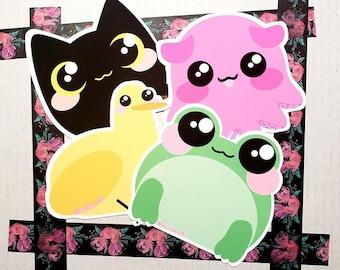 CutiePack/ Cute Stickers/ Sticker Pack/ Animal Stickers/ Cute Animal/ Adorable Stickers