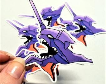 Eva01 Sticker/EvaUnit01 Sticker/Evangelion Sticker/Anime Sticker/NGE Sticker/Matte Sticker