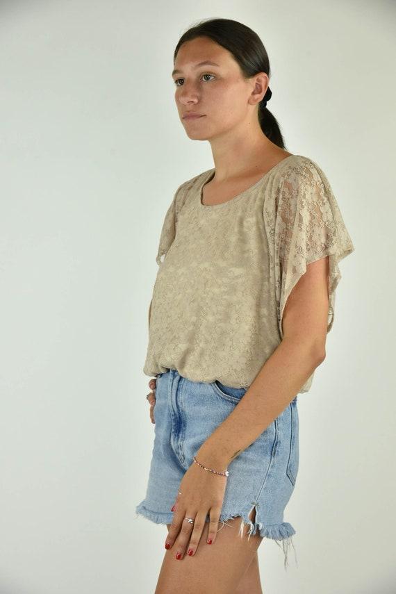 Vintage 90's BCX Tan Shirt Large - image 2