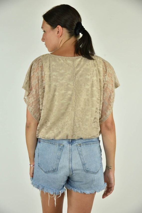 Vintage 90's BCX Tan Shirt Large - image 3