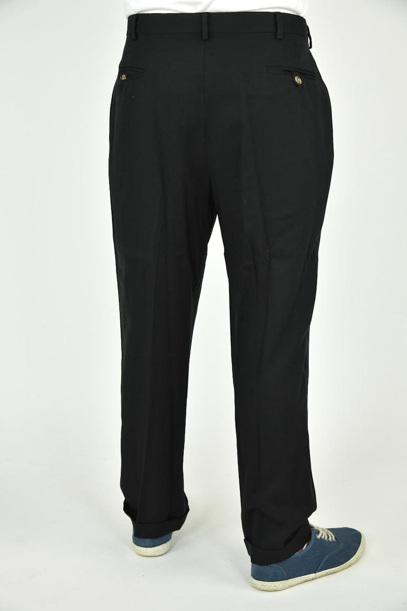 Vintage 90/'s Tommy Hilfiger Black Dress Pants Size 36