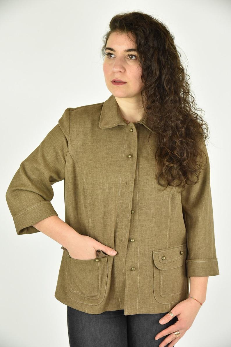 Vintage 90/'s Alfred Dunner Tan Jacket Size 8