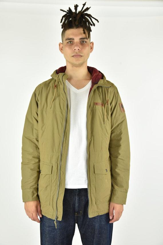 Vintage 90's Columbia Tan Jacket Size LG - image 1