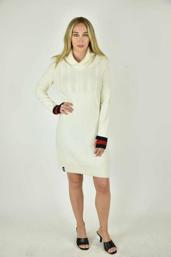 Vintage 90's Under Armour Cream Sweater Dress Size