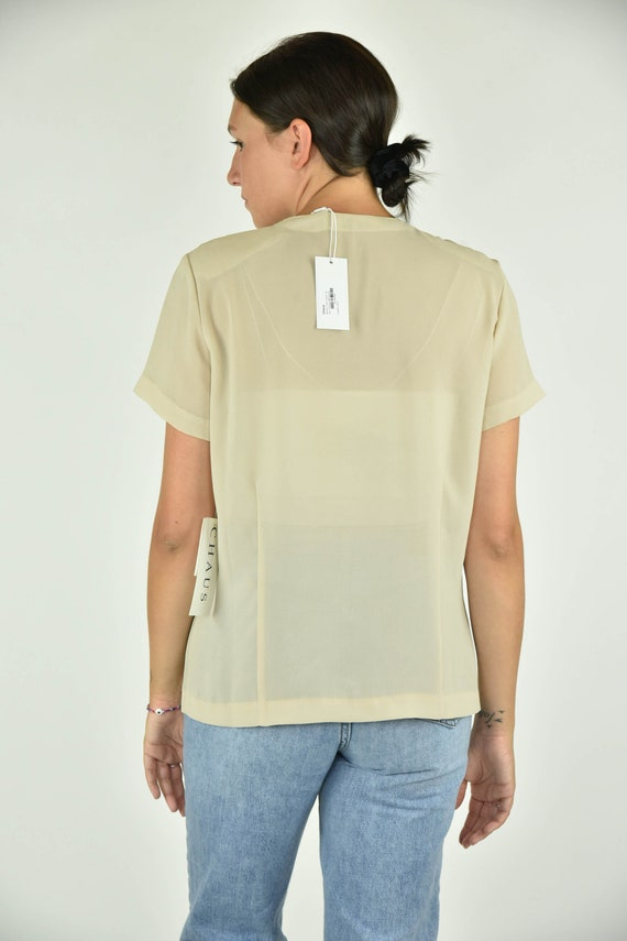 Vintage 90's Chaus Tan Shirt Size 10 - image 3
