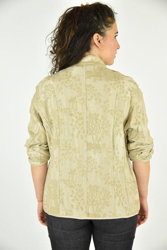 Vintage 90's Chico's Tan Jacket Size 2 - image 3